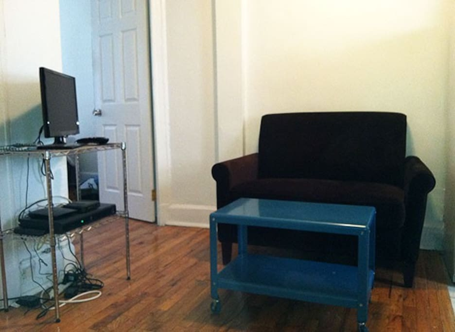 A fairly typical, small NYC flat--not humongous but very welcoming, warm, safe and clean (earth-friendly, cruelty-free products are used).