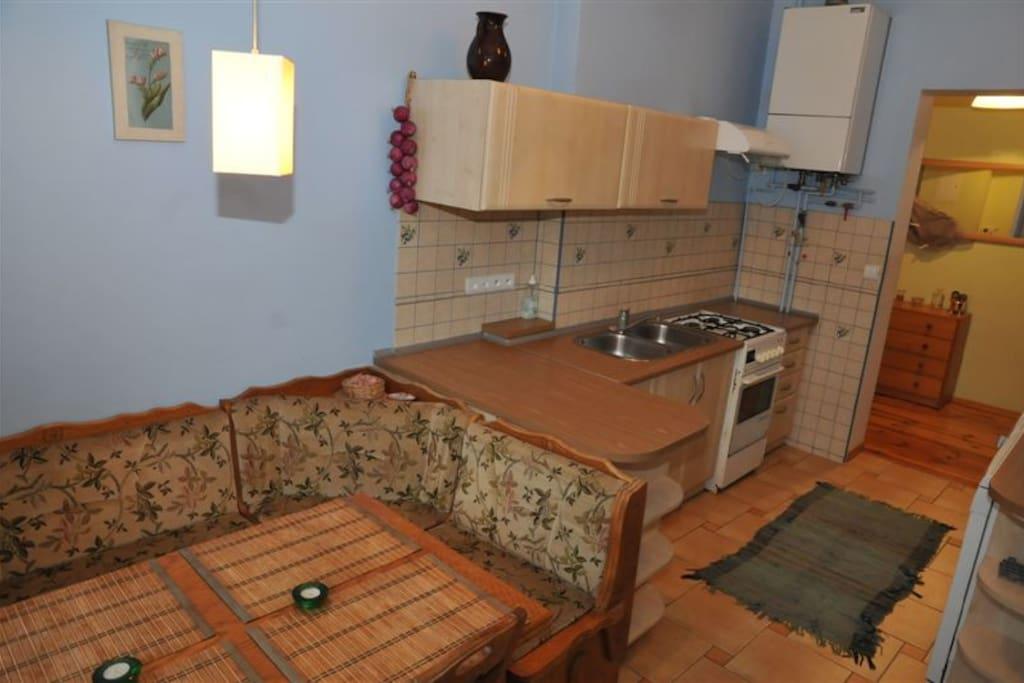 Kącik jadalniany w kuchni/ Dining space in the kitchen