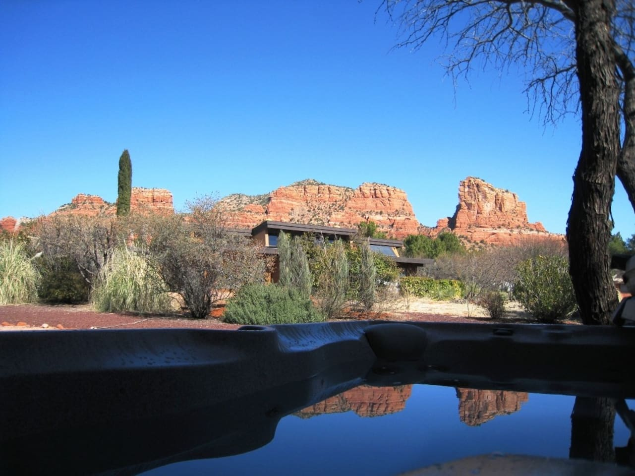 Red rock View From Hot Tub