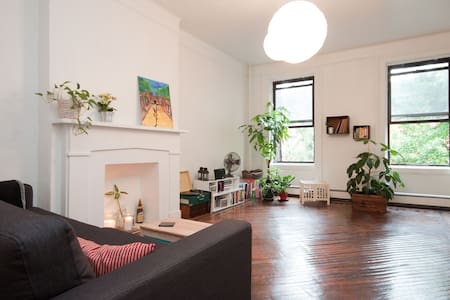 2BR spacious luminous brownstone