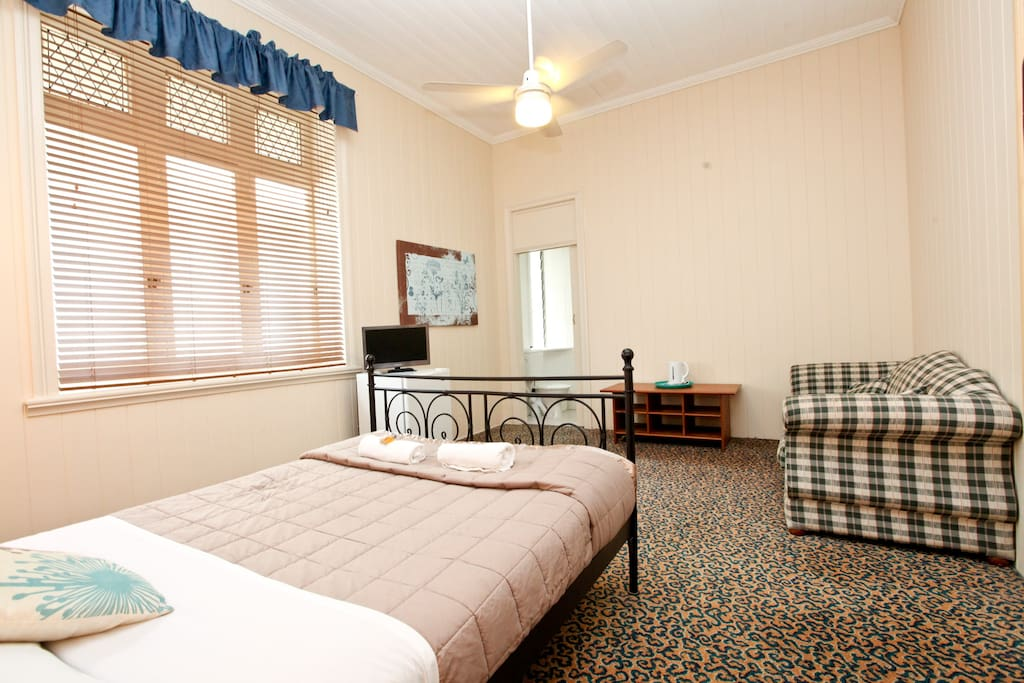 One of our Queen rooms.  This one has a fold out sofa bed.