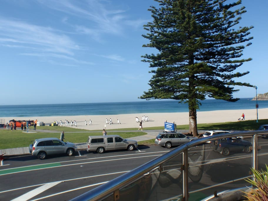 Mt Maunganui view from deck