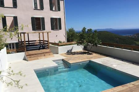 Maison de Maître Cap Corse piscine - Rogliano