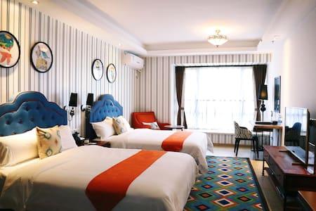 [广州.番禺.长隆.帕菲酒店公寓]灵感源于生活--现实派美式主题双床房 - Guangzhou - Apartamento