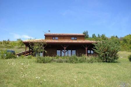 Maison bois ecologique / Gorges de l'Aveyron - Rumah Tanah
