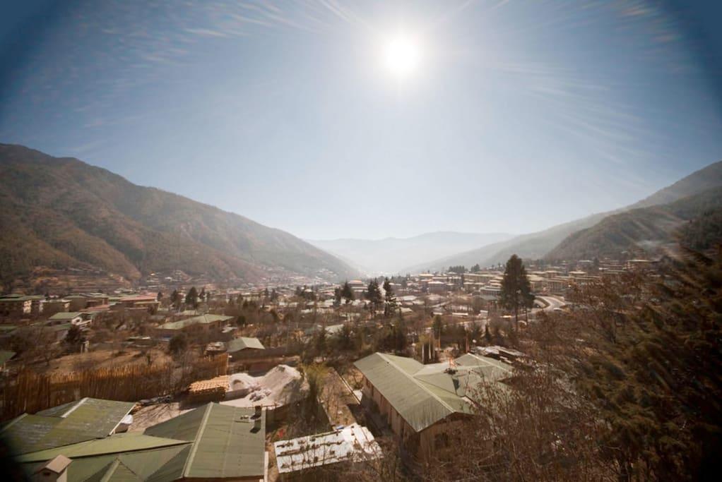 Stunning view of Thimphu
