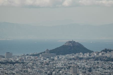Bird's Eye View of Athens city - Penteli