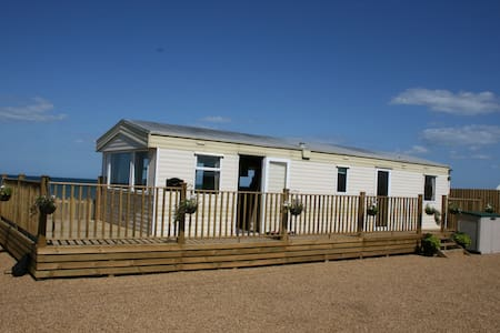 Sandbank on the Beach at Bacton, North Norfolk - Chalet