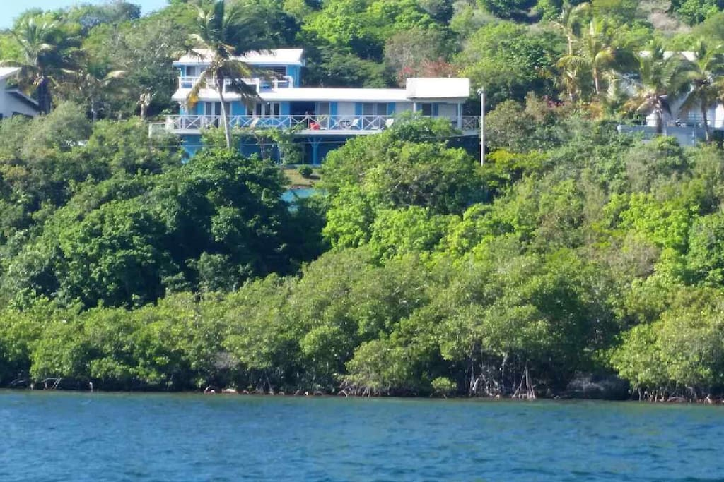 All of Villa Panorama from the water.