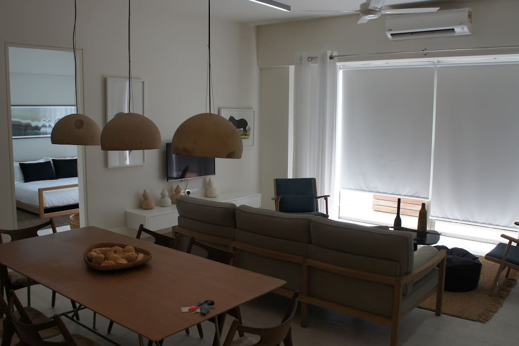 Fully furnished and air conditioned