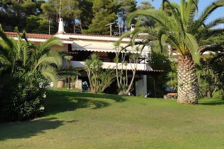 Beachfront Villa at Elani Halkidiki 100m from sea - Huis
