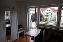Helles Appartment (nah zu Bahnhof+Zentrum, Balkon)