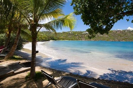 Villa WV BEA - Beautifully maintained and modern, charming beachfront cottage opens to magnificent bay views - Saint-Barthélemy - Villa
