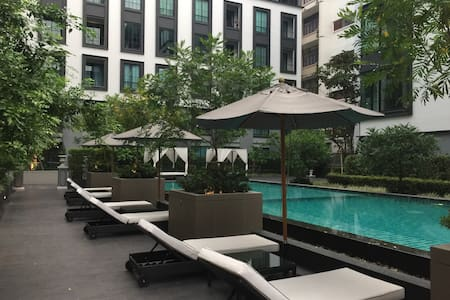 1 Bed Private Room Near BTS & SIAM with Wi-Fi - Bangkok