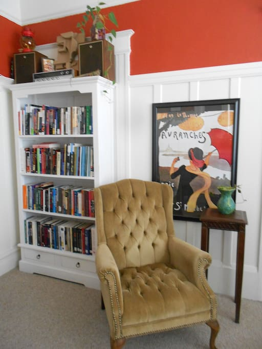 Grab a book and cozy up in the world's most comfortable reading chair...