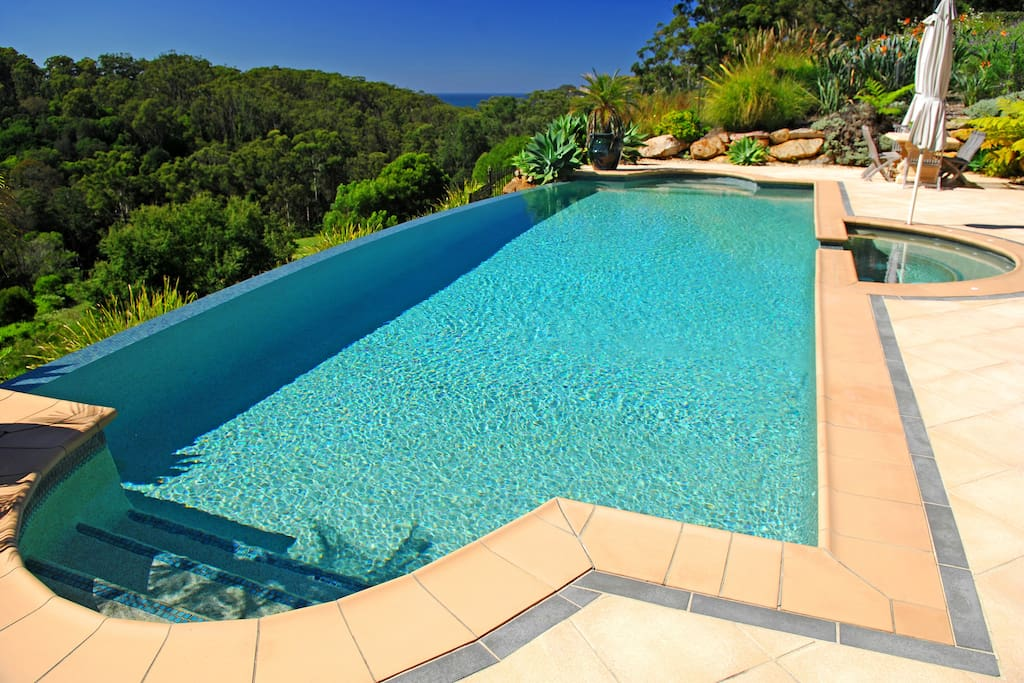 11m solar heated pool.