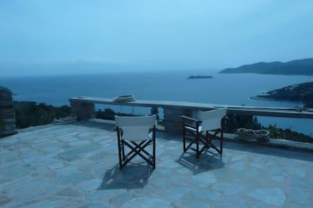Aegean Blue Panorama House - Κλιμάκι - House