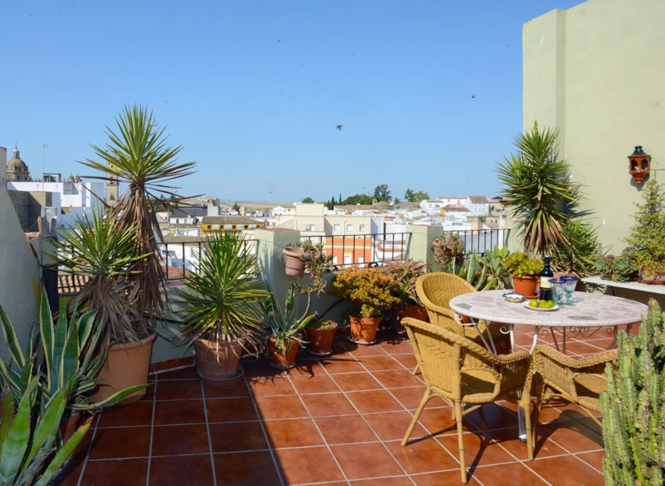 Big roof terrace for shared use between 3 rental apartments/Terraza grande para uso común