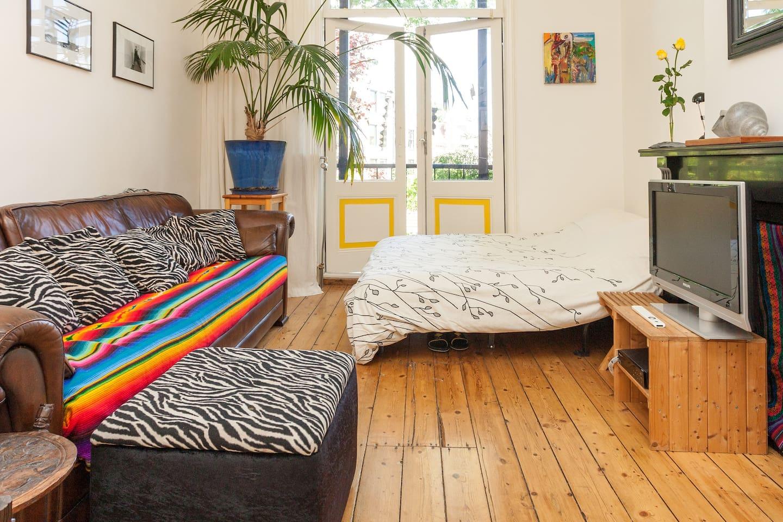 Ruime kamer met balkon en tuin.   huizen te huur in utrecht ...