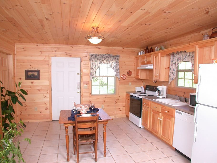 Studio Cabin with Comfortable Living Area and gas fireplace