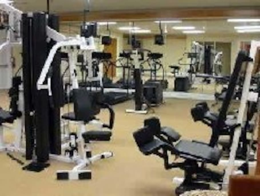 Great gym in our clubhouse.  There is also a sauna and steam room.