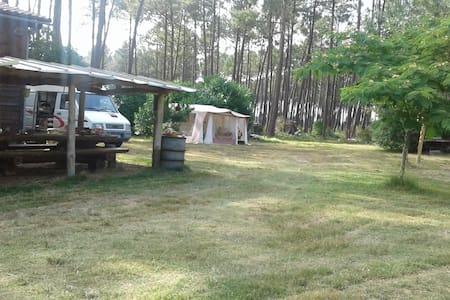 caravane sur terrain prive au coeur de la foret - Mimizan - Camper/RV