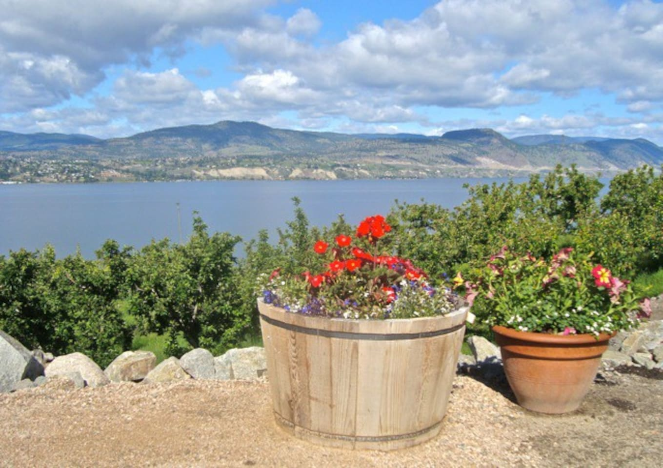 View of Okanagan Lake.