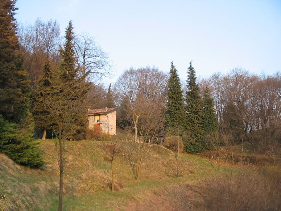 Esterno e parco: you can overlook the lake at one minute walking in the property