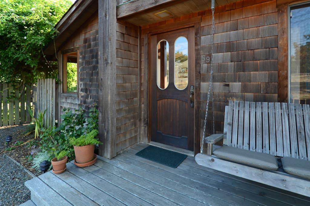 Front door of the Tennis house.