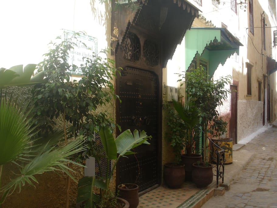 The entrance to the riad