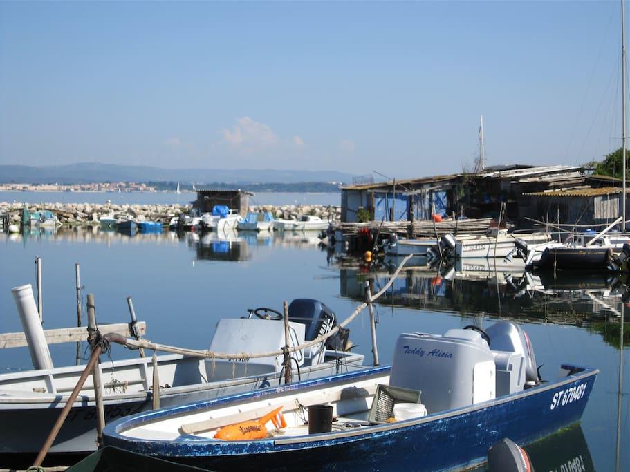 Le port des pêcheurs de l'étang