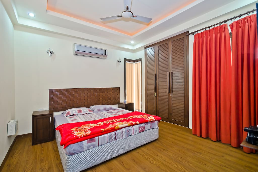 1st Bedroom with Balcony with Attached Bathroom