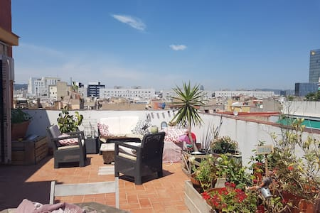 Double Room in Penthouse with big Terrace - Barcelona - Apartment