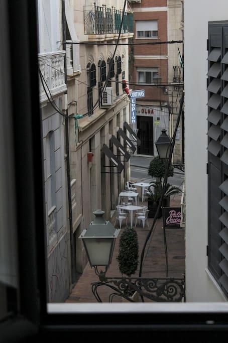 Vistas desde la habitación. Sobre el arco.