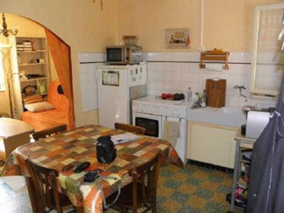 cuisine et coin salon