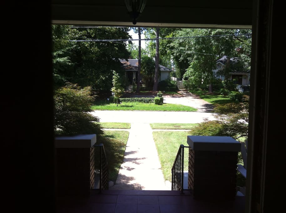View from front door.