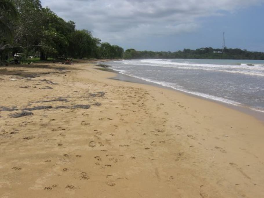 Only steps from your front door to the long stretches of Cabana Beach.  Great swimming, shallow, firm sand bottom.