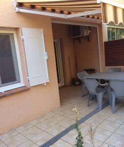 T2  terrasse piscine plage 150 m - Apartamento