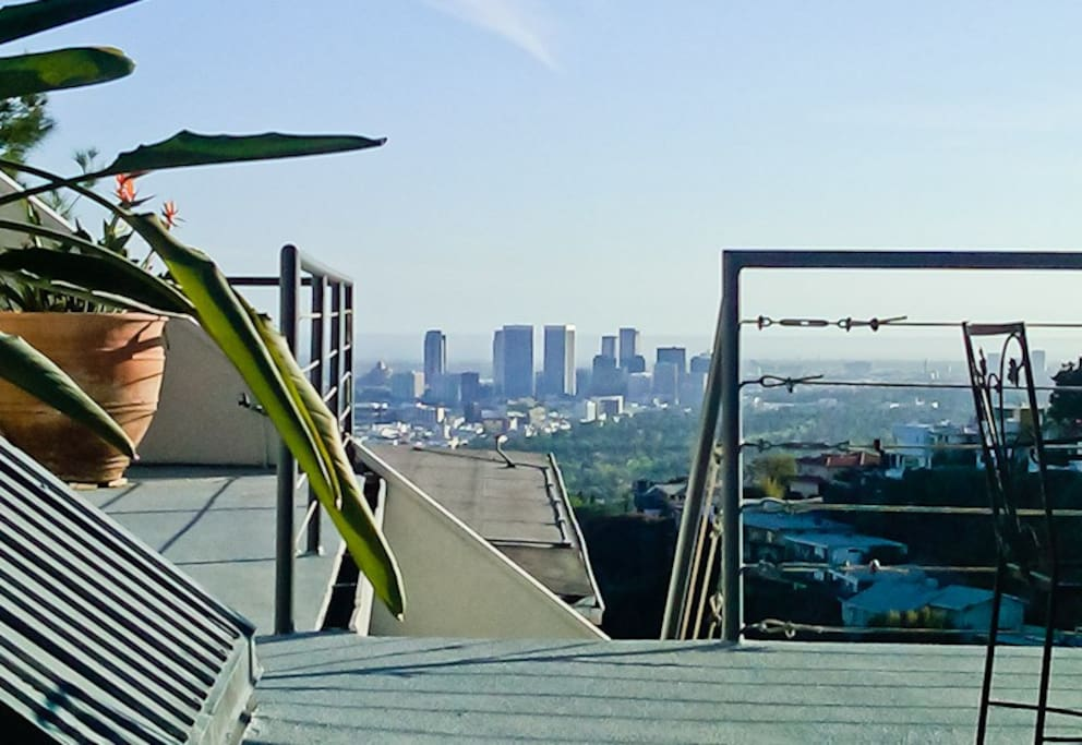 Rooftop Terrace view to Century City and beyond