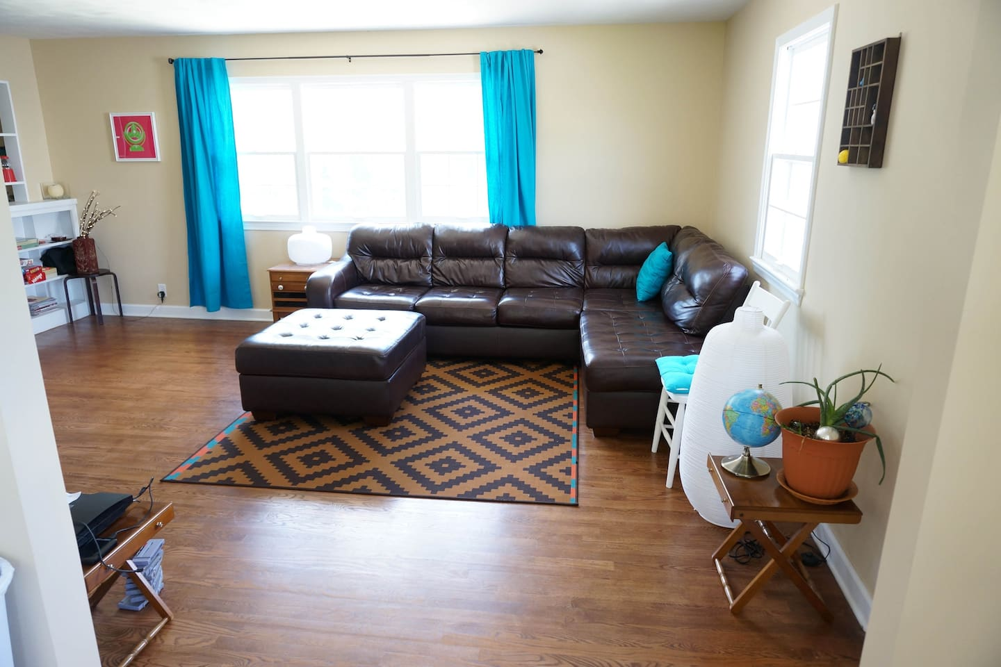 Welcome to our home! This is our common living space that you will see right when you walk in!