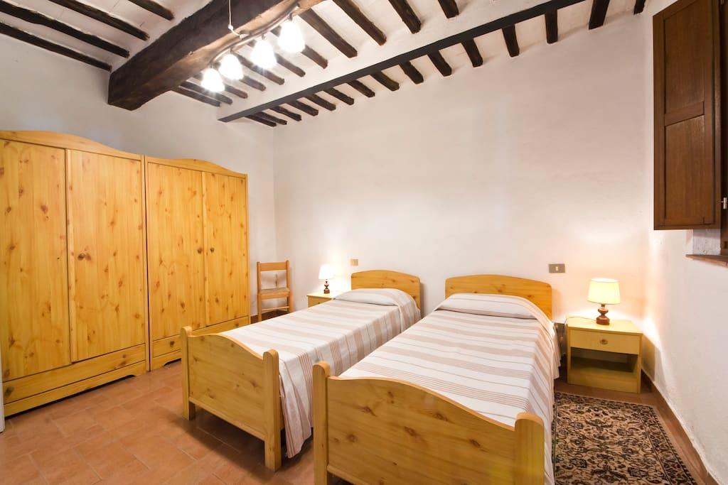 Camera a due letti al piano terra del Boschetto