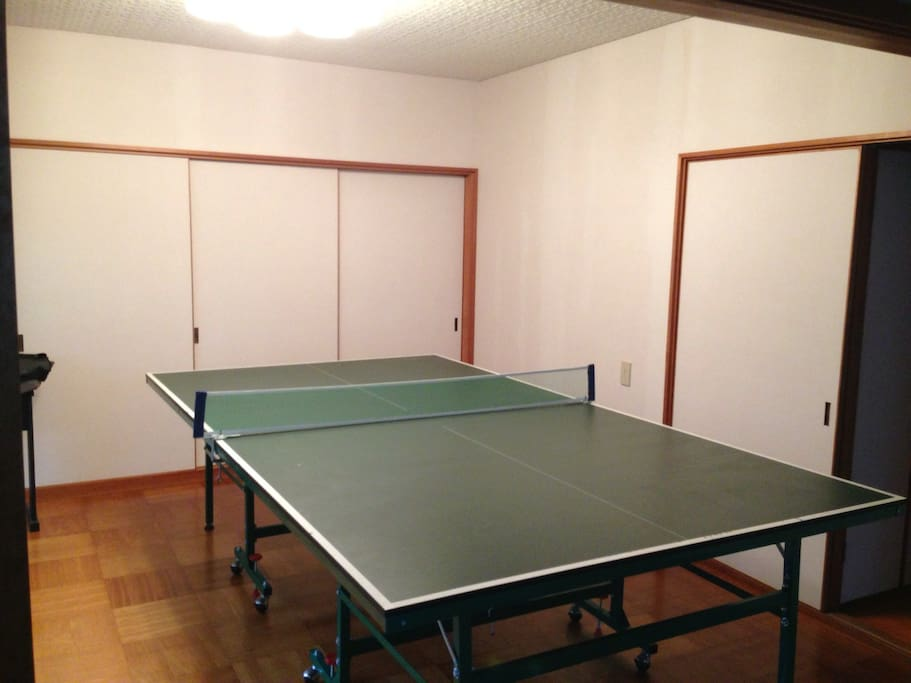 Table tennis in the living room