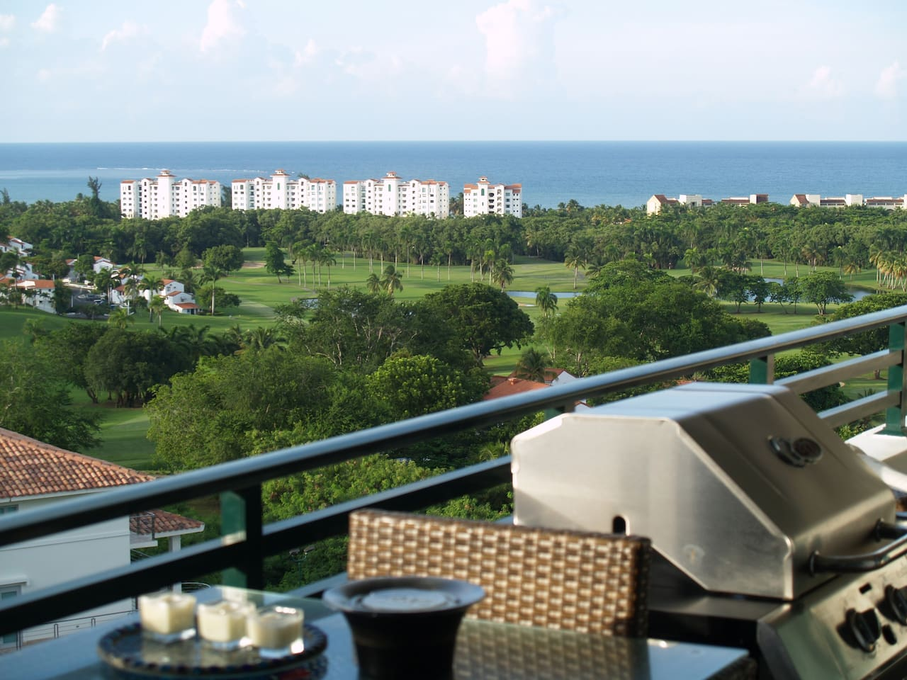 Breathtaking View from the Balcony, Gas grill for your grilling enjoyment