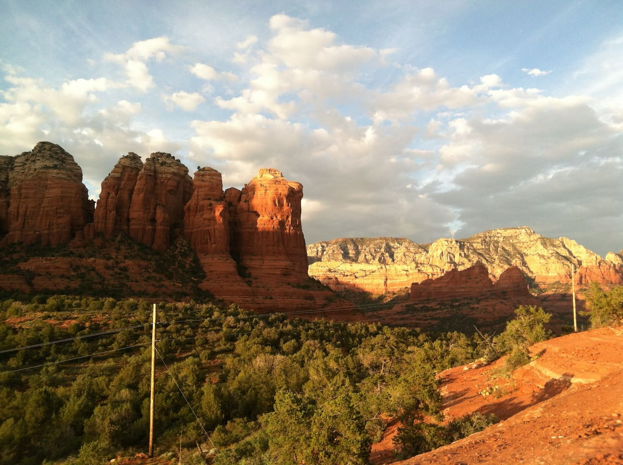Just a minute away and you are in the red rocks