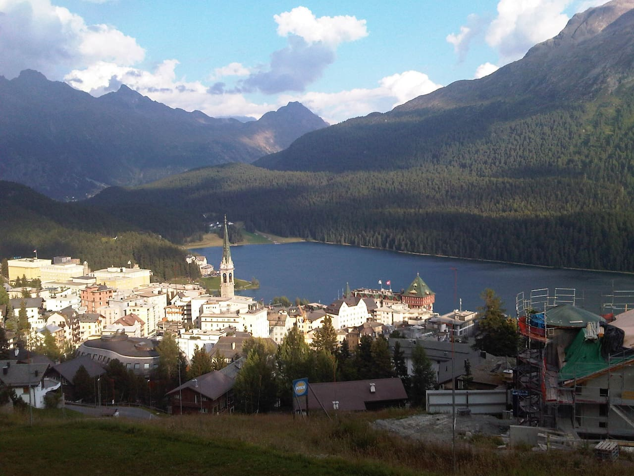 The view of St. Moritz from the apartment