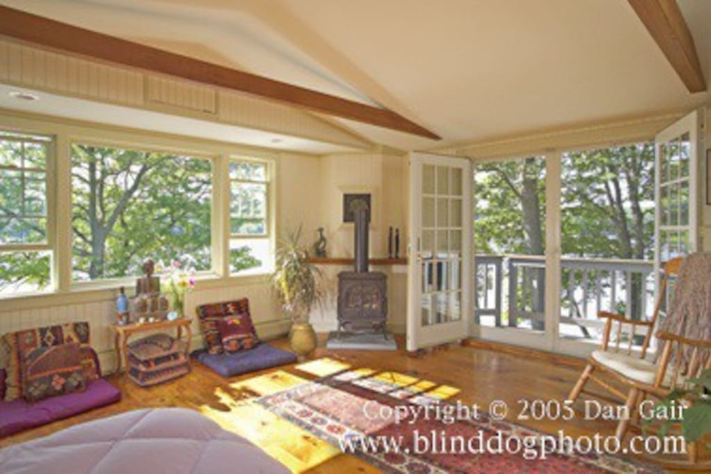 Master suite with Gas Stove and Balconey overlooking River