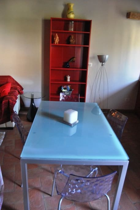 Table in the living area