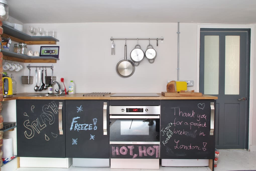 Kitchenette within the living room