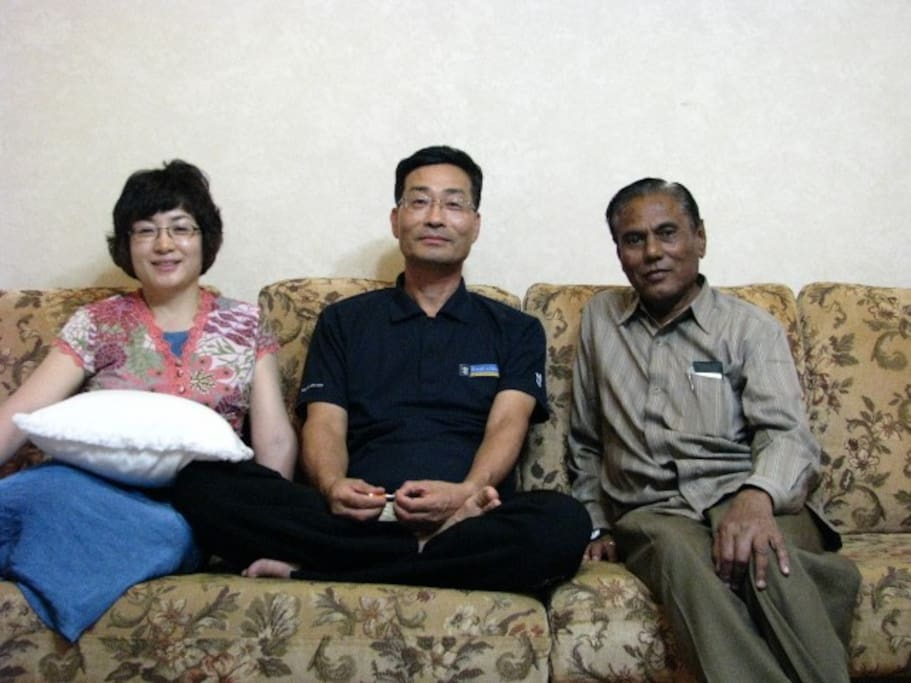 My wife and I With His Excellency Mr. Kiran Joa from India(right)