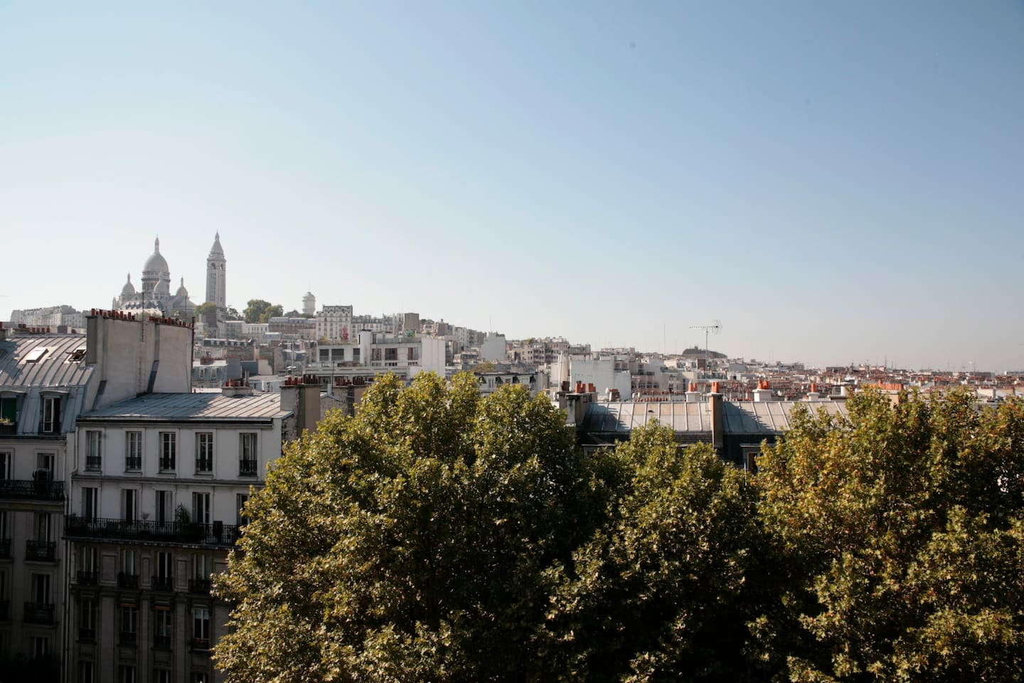 The beautiful view over Montmatre Hill !